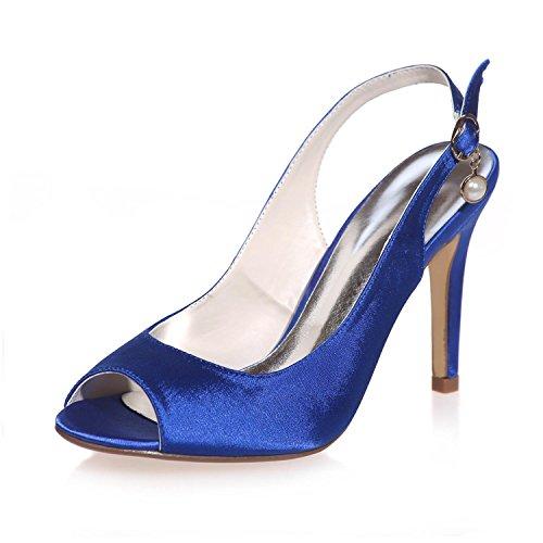 L@YC Scarpe Da Sposa Da Donna Peep Toe In Seta / Party / Party Night & More Colors 5623-18 Blue