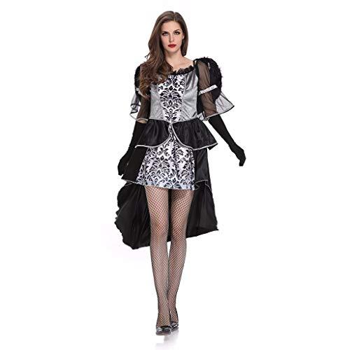 Halloween Kostüm Damen Schwarzer Engel Cosplay Verkleiden,
