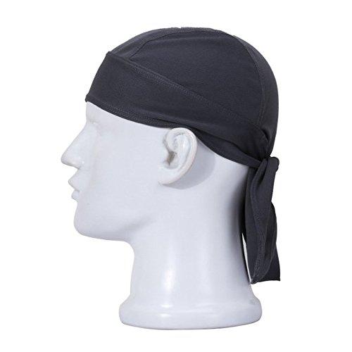 Swallowuk Sport Cap Breathable Outdoor Wandern Kopftuch Piratenhut Stirnband (grau) (Männer Mit Turban Stirnband)