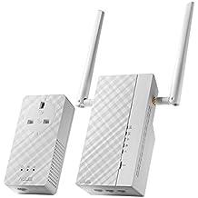 ASUS pl-ac56Kit Extensor de Powerline AV2, WiFi AC1200, 1200, 3puertos Gigabit, sin configuración, toma de corriente, compatible con otros adaptadores de la marca