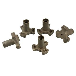 SODIAL(R) 5 Stueck Kunststoff Mikrowellenofen Drehteller Stuetze als Ersatzteil 35 * 35 * 23 mm - Khaki