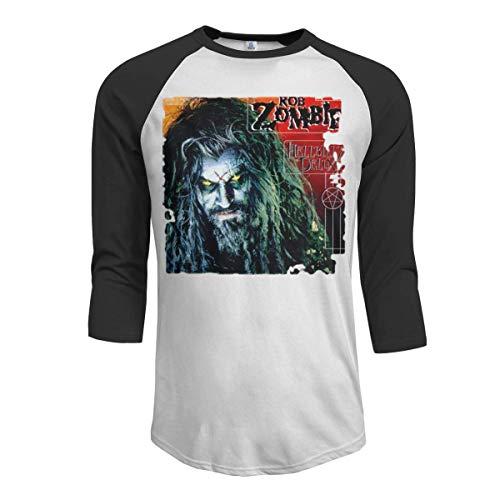MarshallD Men's Rob Zombie 3/4 Sleeve Raglan Baseball T-Shirt Black M