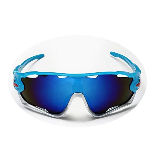 Beydodo Herren Damen Schutzbrille Beschlagfrei Blau Silber Sportbrille Outdoor Sonnenbrille Nachtsichtbrille zum Autofahren