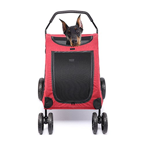 Willsky Groß Haustier Kinderwagen Falten Hund Träger Reisen Gehen Einkaufen Wagen Tragen Wagen Innerer Sitz 64 * 80 * 64 cm Zwinger