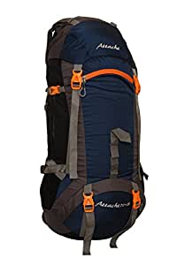 Attache 1026R Rucksack, Hiking Backpack 75Lts (Navy Blue) With Rain Cover