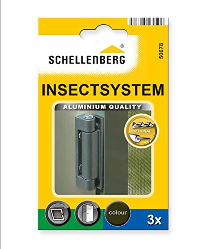 Schellenberg 50678 Alu-Scharniere 25/32 3 St▒ck schwarz -