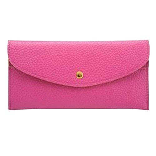 Portafoglio Donna, Tpulling Portafoglio lungo della borsa della borsa della frizione della borsa sottile della signora Donne (pink) Hot pink