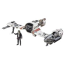 Hasbro Star Wars C1251EU4 Episode 8 Forcelink Ski Speeder with 3.75 Inch Poe Dameron Figure, Playset