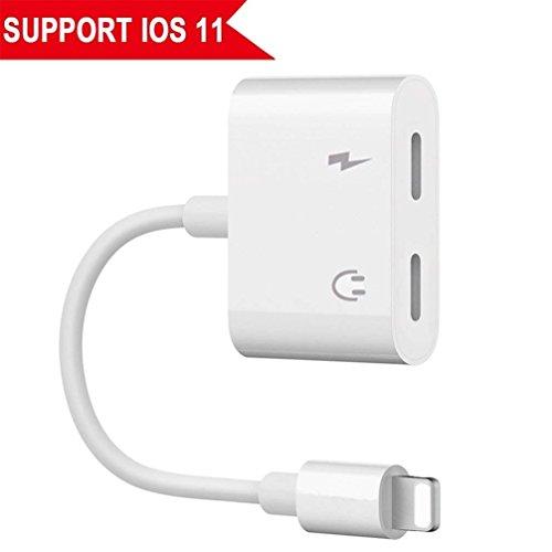 Adapter für iPhone Kopfhöreranschluss. Kopfhöreradapter für iPhone 8 / 8Plus iPhone X iPod / iPad Kopfhörer Aux Audio- und Ladeadapter [Audio + Laden + Anruf + Lautstärkeregler]. Unterstützt iOS 12