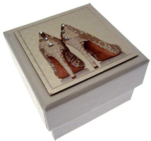 ochzeitsbox Geschenkbox, mit englischem Text, für Hochzeiten, mit Schuh-Motiv ()