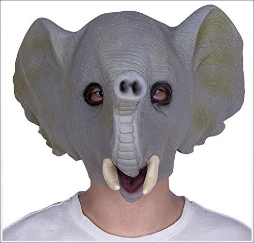 Máscara Elefante Máscara de látex Halloween Carnaval Mascarada Lindo animal tocado adulto