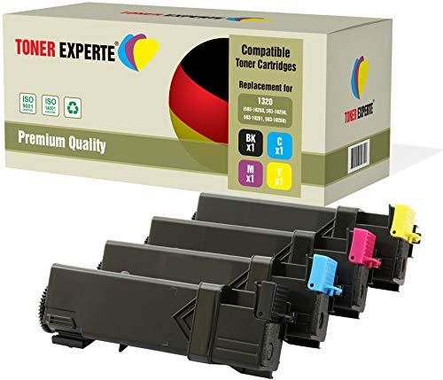 Pack de 4 TONER EXPERTE® Compatibles 593-10258 593-10259 593-10261  593-10260 Cartuchos de Tóner Láser para DELL 1320c, 1320cn