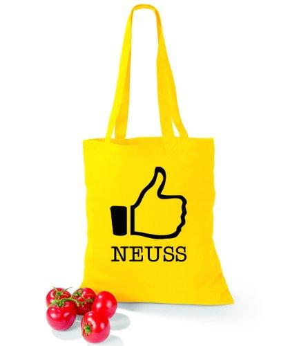 I like Yellow Neuss Artdiktat Baumwolltasche PO5Hwqx0Fn