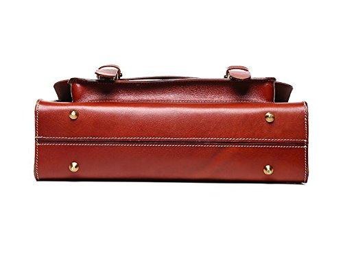 DJB/ Retro Messenger Mann Tasche Aktentasche neutralere Männer und Frauen Schulter geschlungen Laptoptaschen Brown