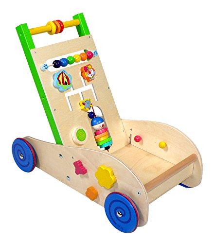 Hess Spielzeug 31180 andador Multicolor - Andadores (1 mes(es), Niño/niña, 4 rueda(s), Madera, Multicolor, Interior)