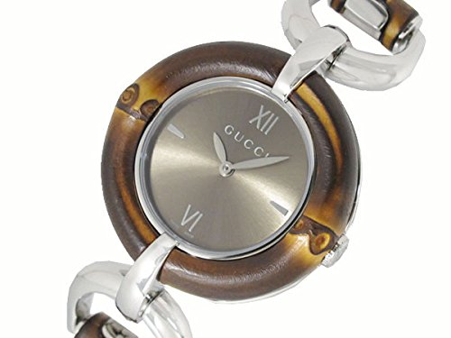 GUCCI Watch Womens Bamboo Bracelet Bamboo and Stainless Steel 35mm YA132402