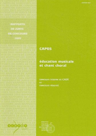 CAPES Education musicale et chant choral : Concours interne et CAER et concours réservé