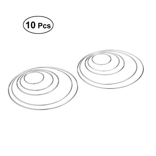 Healifty 10 Stücke Metallringe Metall Hoops für Traumfänger DIY Handwerk (Silber)