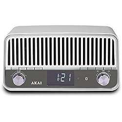Radio vintage Bluetooth AKAI APR500WE blanco