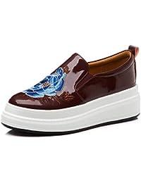 Zapatos Sneakers Planos Cuña para Mujer,MWOOOK-822 Casual Transpirables Sneakers Clásico Zapatos Mocasines