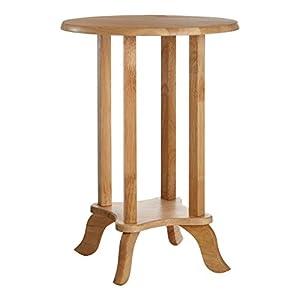 Premier Housewares 2402246 Tisch, Gummibaum (Hevea), Natur, klein