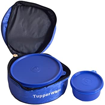 tupperware classic plastic lunch box with bag 2 pieces. Black Bedroom Furniture Sets. Home Design Ideas