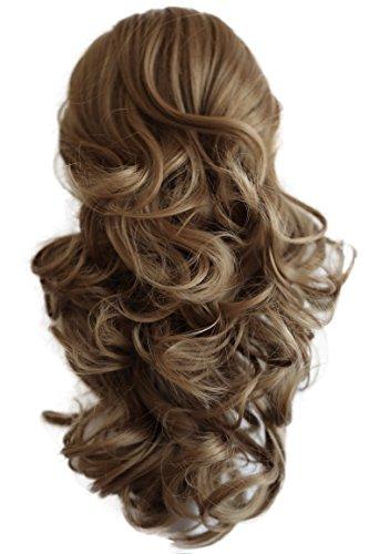 PRETTYSHOP 40cm Haarteil Zopf Pferdeschwanz Haarverdichtung Haarverlängerung VOLUMINÖS 40cm dunkelblond #28 PH211