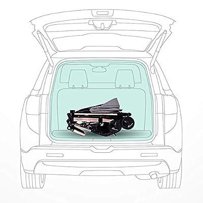 TOL MY Cochecito para bebés Gemelo, Desmontable reclinado de Aluminio Plegable Cochecito Doble con bebé Segundo niño artefacto lo Hace más fácil