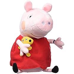 Peppa Pig - Peluche Peppa y su Smartwatch (Bandai 84870)