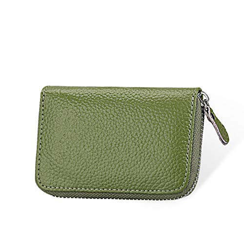 QLOH Brieftasche Fashion Leather Women Card Holder Large Capacity Female Id Credit Card Case Bag Wallet (Card Credit Case Leather Womens)