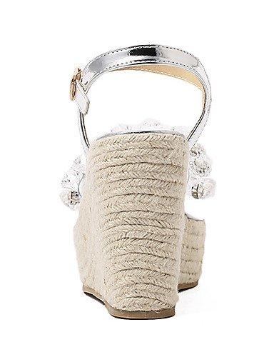 UWSZZ IL Sandali eleganti comfort Scarpe Donna-Sandali-Serata e festa / Formale-Zeppe / Spuntate / Plateau-Zeppa-Silicone-Argento Silver