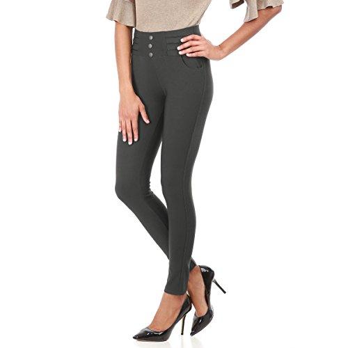 La Modeuse - Legging femme GRIS FONCE
