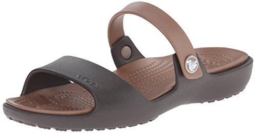 Crocs New Cleo Sandal W Sandali a punta aperta, Donna, Marrone (Braun (Espresso/Bronze 25M)), 38/39