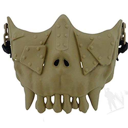 BBYaki Desert Series Maske CS Maske Half Face Protective Mask, Horror Zombie Vampire Maske Halloween Masquerade Geschenk Shantou,EMud (Zombie Schießen Halloween)