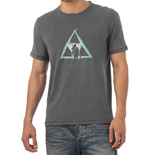 NERDO - Triforce Light - Herren T-Shirt, Größe L, grau