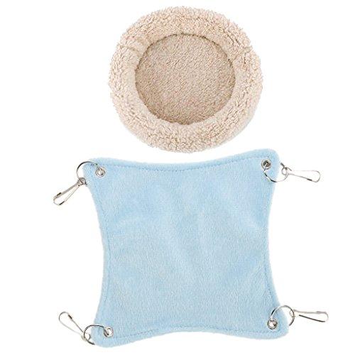 Fenteer cuscino in gabbia di cotone per amaca e stuoia per coniglietto - crema