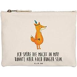 Mr. & Mrs. Panda Makeup, Federmappe, M Schminktasche Fuchs Indianer mit Spruch - Farbe Weiß