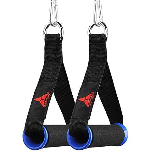 Ejercicio Máquina Asas asas banda resistente, asas–Máquina Asas, Gimnasio, con dos Durable Mosquetones