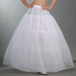3 Hoop Bridal Wedding Dress Petticoat Crinoline Underskirt Gown Party Slip White Cloth by ASTrade