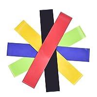 5PC direnç Loop Gymnastikband direnç Band set elastik direnç bantlarında Crossfit, Yoga, pilates Gym egzersizleri için uygundur