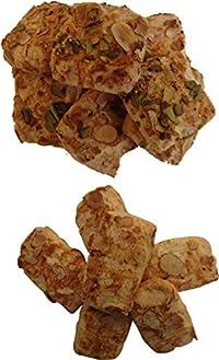 TT TRADIONALLY Handmade BADAM Pista and BADAM BAR Biscuit Cookies (Combo)- Pack of 2