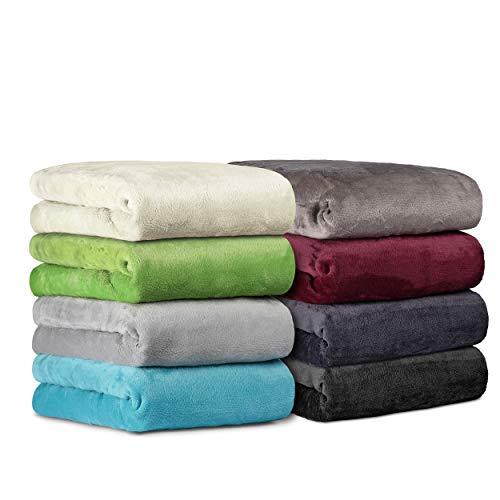 BaSaTex Cashmere Touch Spannbettlaken Spannbetttuch ähnlich Nicky, Teddy, Corals Fleece in 5 Größen und 8 Farben 180x200 bis 200x200 cm Anthrazit