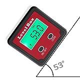 Digital Angle Finder LCD Digital Ángulo Calibrador Impermeable Protractor Caja De Bisel Inclinómetro Para Helicóptero/Ángulo De Bisel De Sierra De Inglete Y Base Magnética Etc