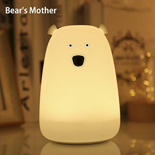 LED Nachtlicht S&G® im Bären-Look Nachttischlampe mit farbwechsel süßes Nachtlicht Schlaflicht Schlummerleuchte Nachtleuchte Nachtlampe Spielzeug für Kinderzimmer deko Schlalfzimmer Wohnzimmer Kindergeburtstag Geschenk Baby Lampe (Bär)
