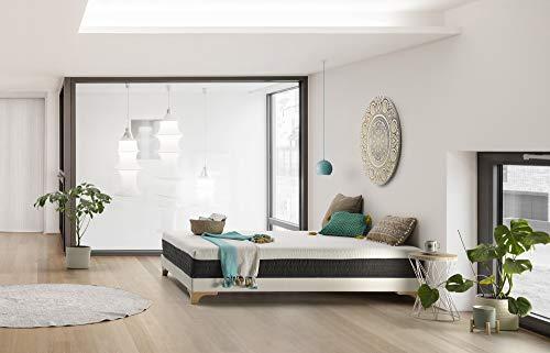 THE WISE FROG Materasso Modello Urban. Rivestimento Sfoderabile e Lavabile con Zip + Topper Materasso Memory Foam (140 x 190 cm)