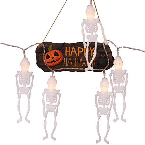 Quaan niedlich kreativ glücklich Halloween Party 2.5M 10LED Party Familie Geist Festival Halloween LED Dekorativ Beleuchtung Kinder Zimmer Terror Cosplay Vampir Zombie Geschenk Festival Dekorationen