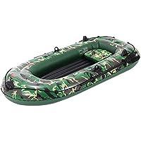 Jannyshop-123 Bote de Balsa Inflable para 3 Personas con Paletas, Bomba de Aire, Barca Hinchable de Canoa Kayak de PVC Grueso para Pesca a la Deriva