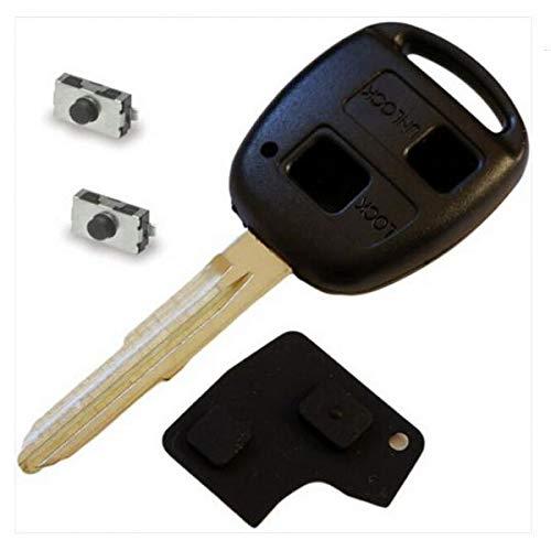 4 Stück Gehäuse (Almencla 2 Stück 4 Tasten Schlüssel Gehäuse Ferbedienung Funkschlüssel Abdeckung für Toyota Yaris)
