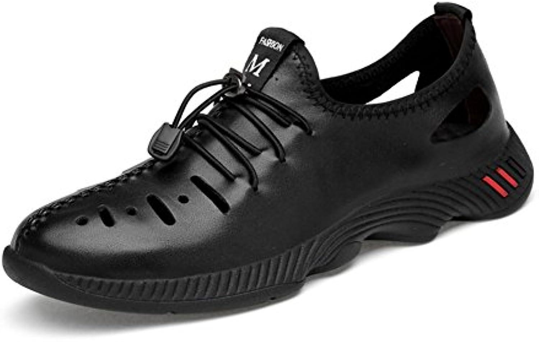 New Zapatos Casuales de los Hombres 2018 Zapatos de Marea para Hombre de Verano/Otoño Zapatos de Cuero Genuino...
