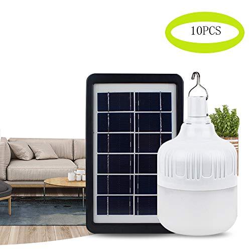 Haizhiyin LED Solar Licht, LED Super Helle Glühbirne Taschenlampe, wiederaufladbare Solar LED Licht/Camping/Notfall Licht Camping und Wandern (10 Sätze),9W -
